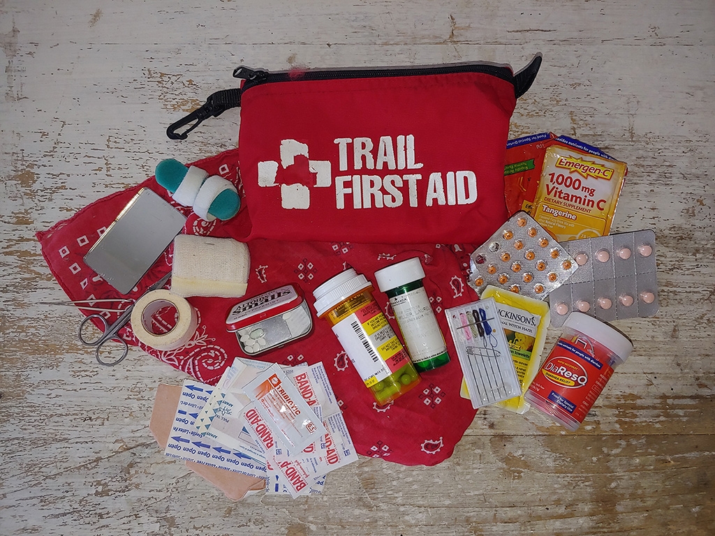 build your own backpacking and hiking first aid kit