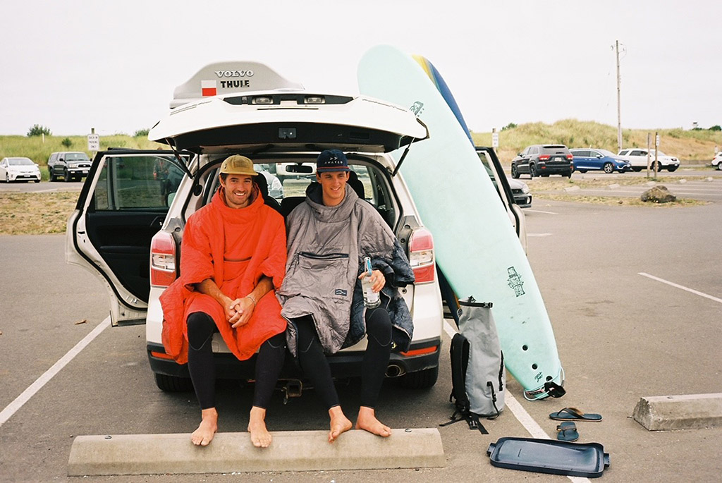 surf trip and car camping