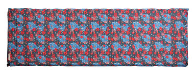 Lair Air Mattress, Blue Floral, top view horizontal