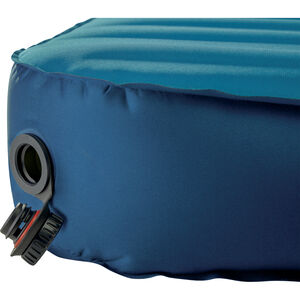Therm-a-Rest MondoKing Marine Blue deflate valve open