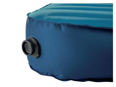 Therm-a-Rest MondoKing Marine Blue deflate valve closed